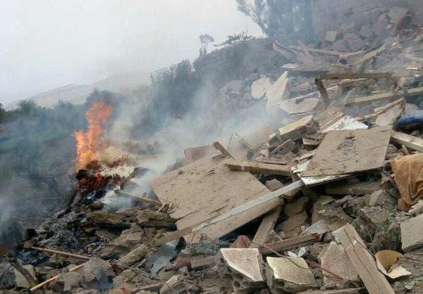 دمار في اليمن إثر قصف حوثي