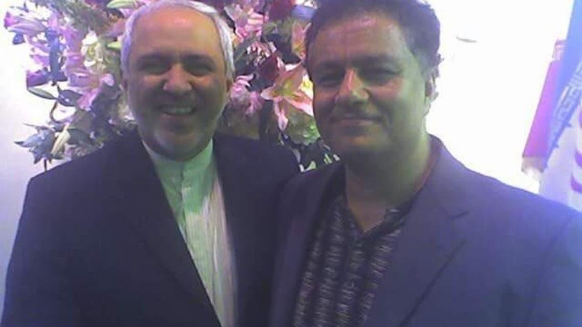 كاوه أفراسيبابي مع وزير الخارجية الإيراني