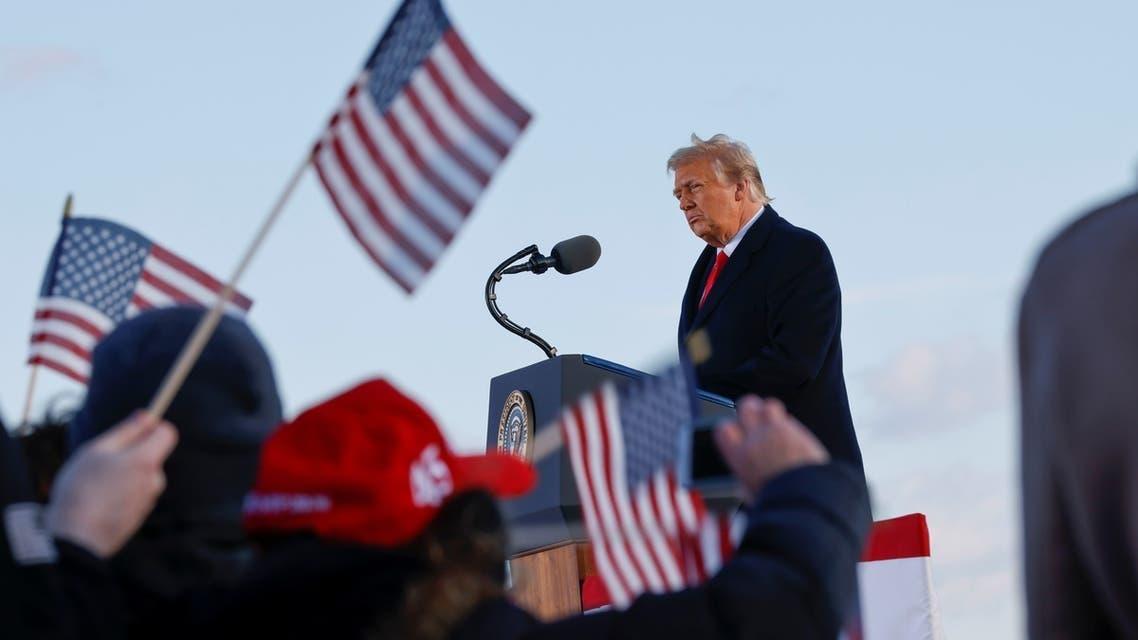 ترامپ در پایگاه نظامی اندروز صحبت می کند