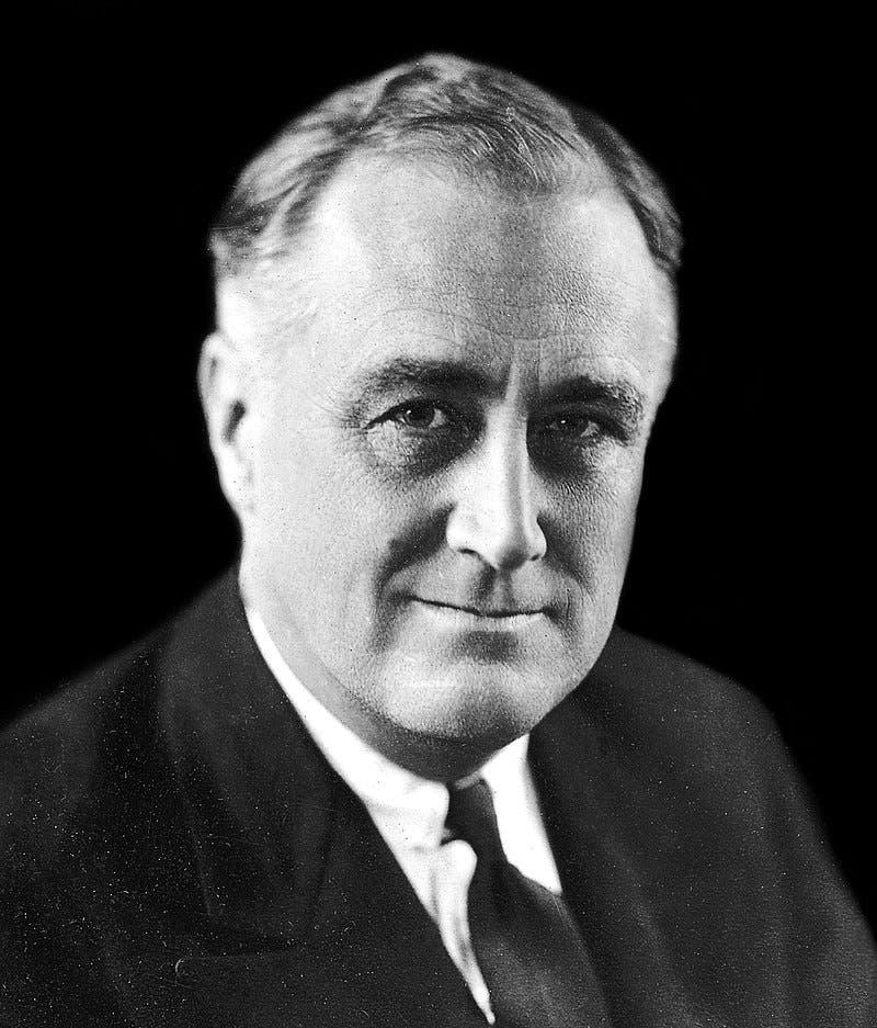 صورة لفرانكلن روزفلت