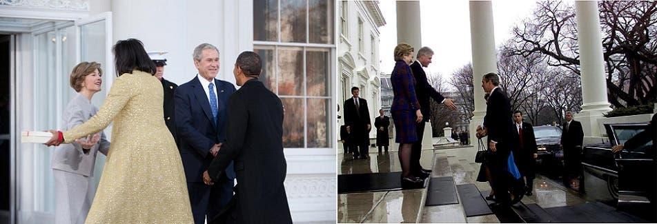 رئیس جمهور کلینتون و همسرش جورج دبلیو بوش و همسرش را برنده می کنند ، و به نوبه خود آنها باراک اوباما و همسرش میشل را می گیرند ، و این یک سنت است