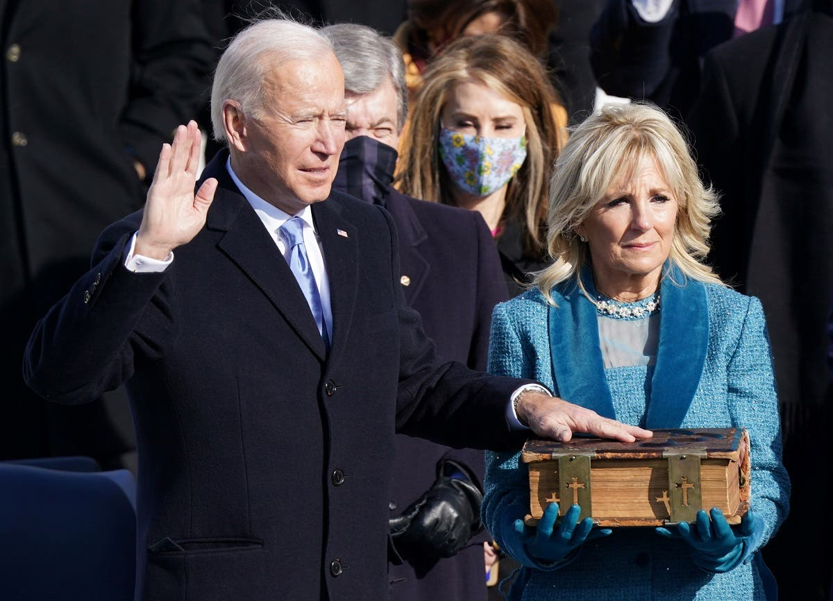 Joe Biden is sworn in as the 46th President of the United States at the Capitol, Jan. 20, 2021. (Reuters)
