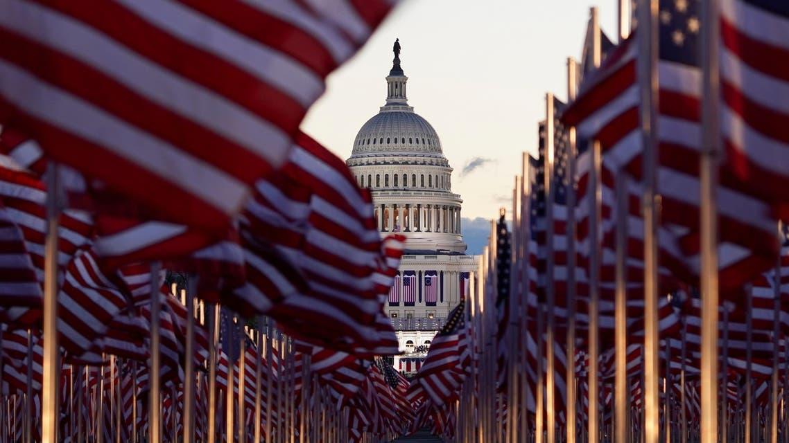 استعدادات لتنصيب بمحيط الكونغرس