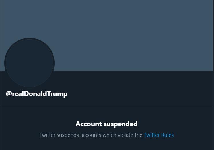 Former US President Donald Trump's personal Twitter account. (Screengrab)