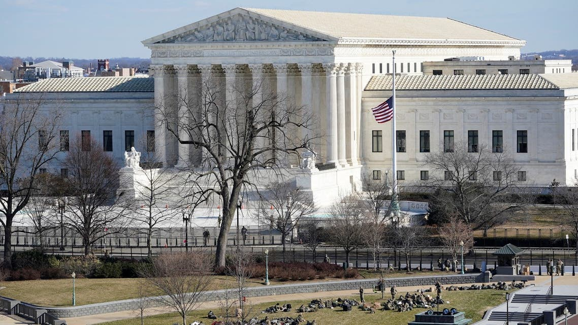 A view of the Supreme Court in Washington, U.S. January 19, 2021, ahead of the 59th Presidential Inauguration on Wednesday. (Reuters)