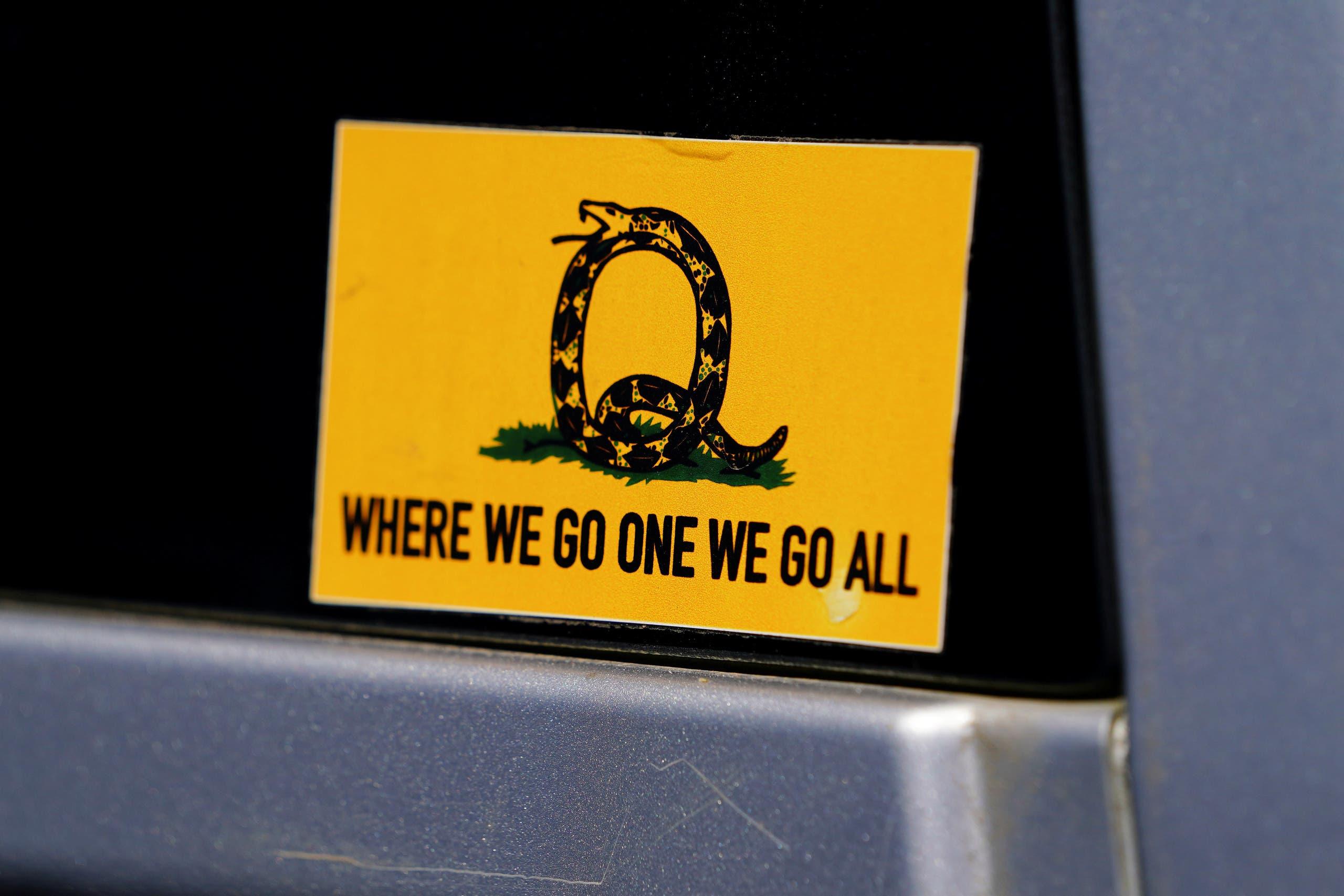شعار حركة كيو آنون
