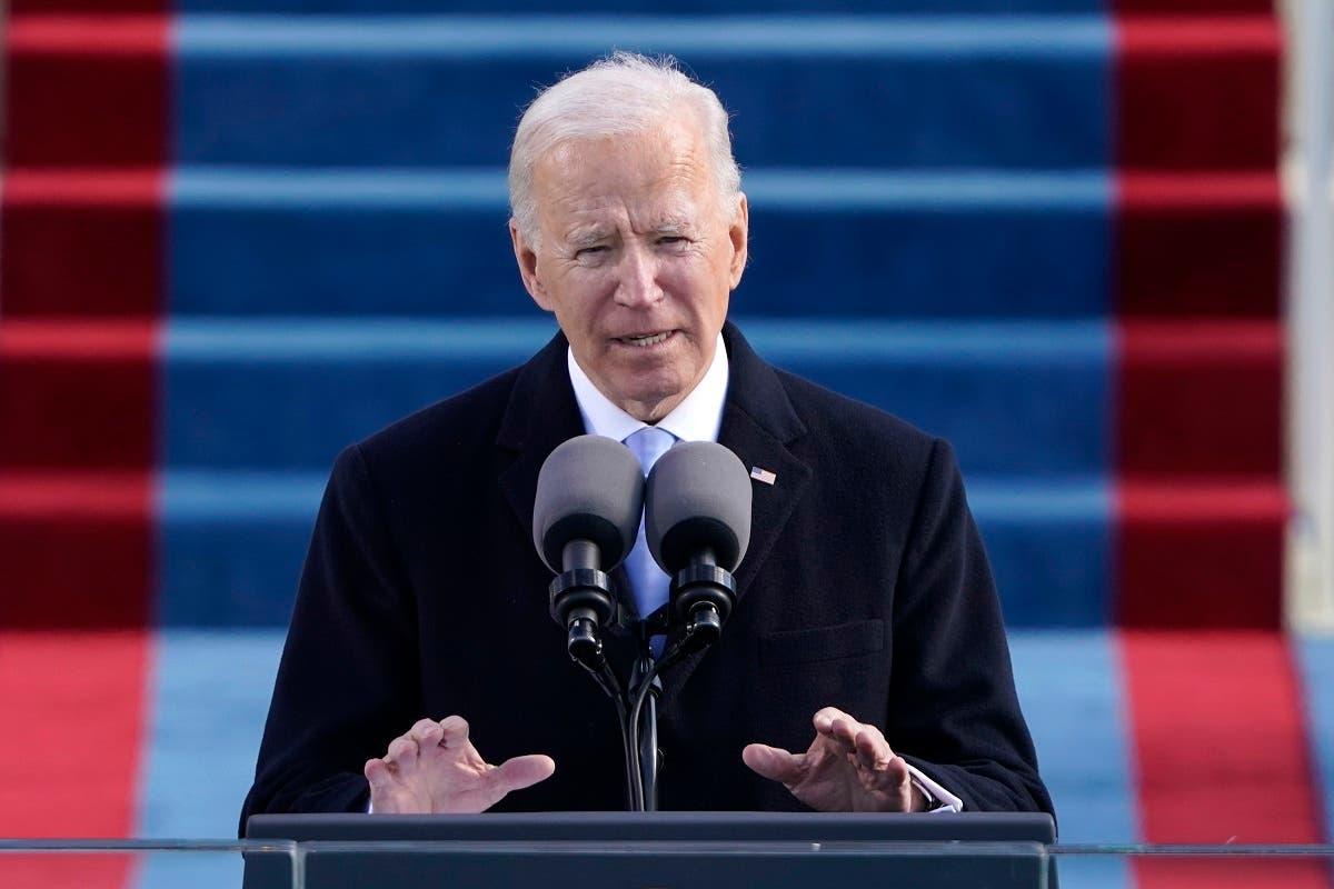 President Joe Biden speaks during at the Capitol in Washington, Jan. 20, 2021. (File photo: AP)