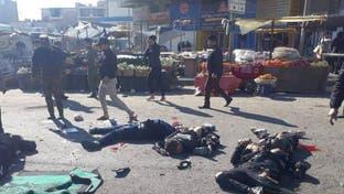أشلاء متطايرة ودخان أسود.. لحظة وقوع الانفجار في بغداد
