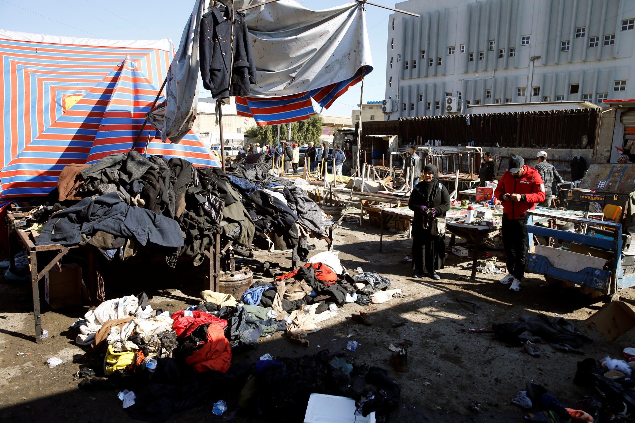 من موقع الهجوم في بغداد