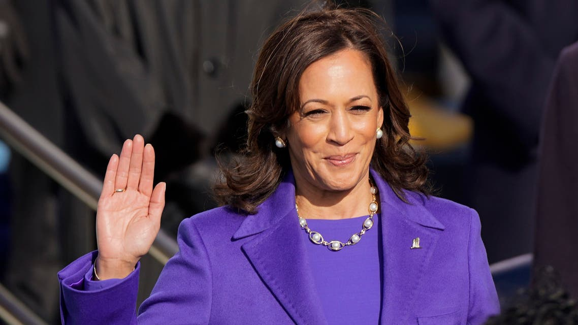 Kamala Harris is sworn in as vice president by Supreme Court Justice Sonia Sotomayor during the 59th Presidential Inauguration on  Jan. 20, 2021. (AP)