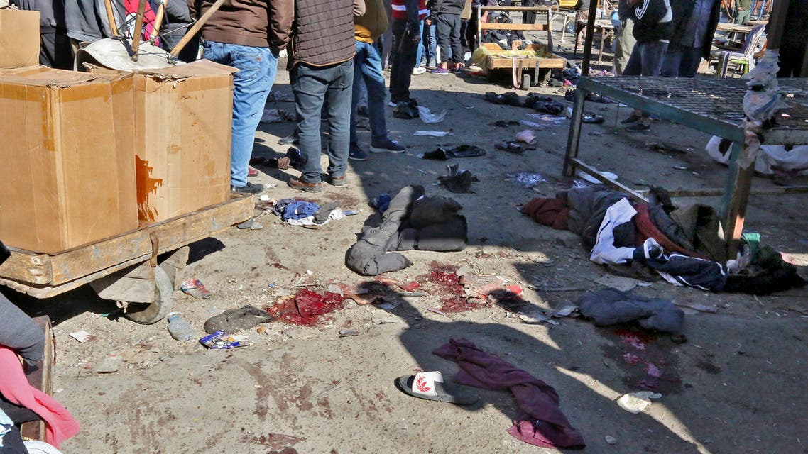 من تفجير بغداد الانتحاري (فرانس برس)