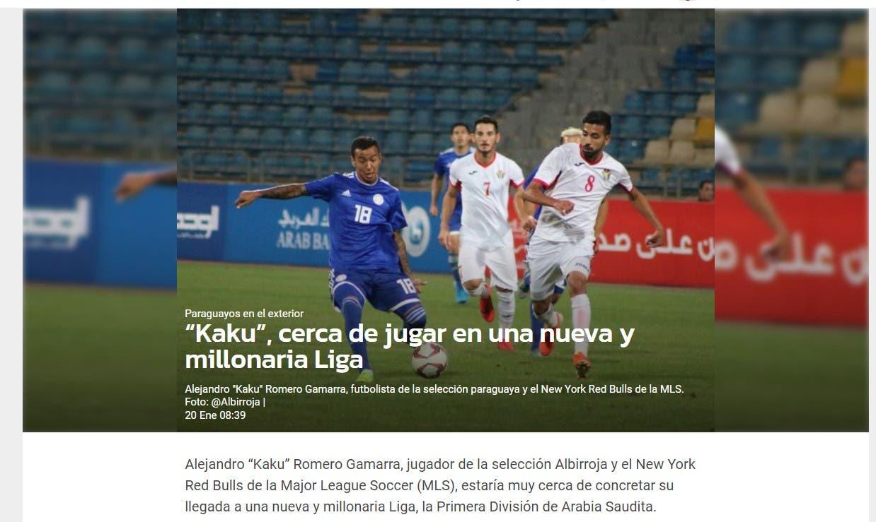 صورة ضوئية من موقع الصحيفة الأرجنتينية