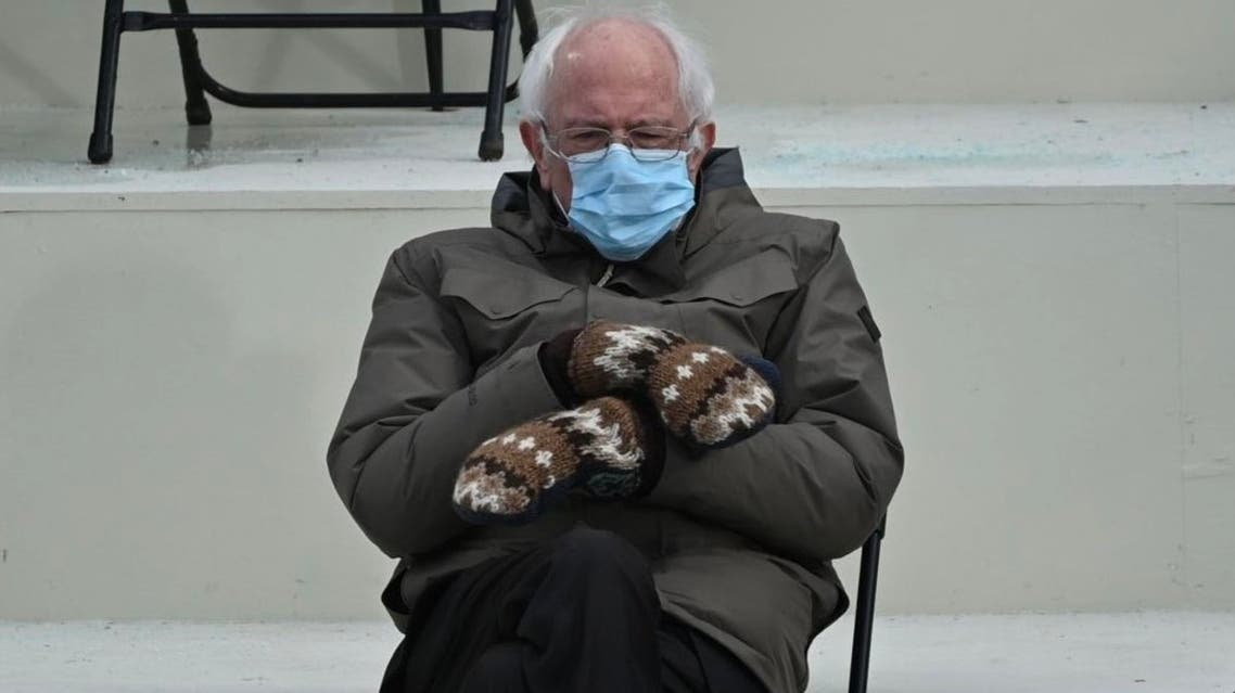 US Senator Bernie Sanders pictured at President Joe Biden's inauguration. (Twitter)