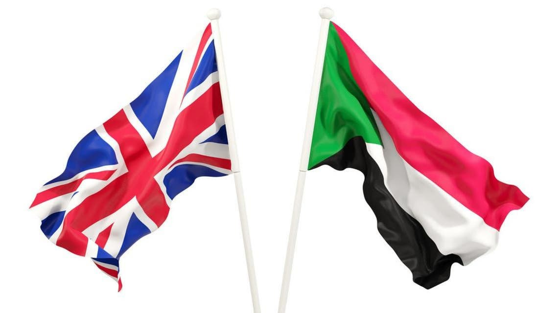 Sudan and Britain Flags