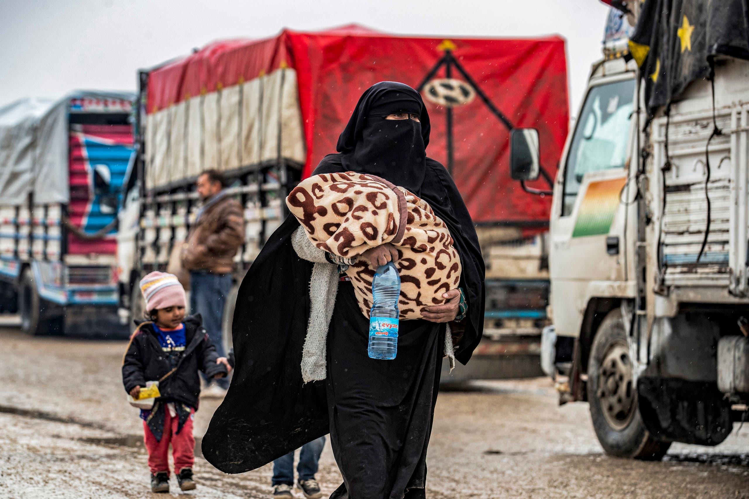 من مخيم الهول يوم 19 يناير
