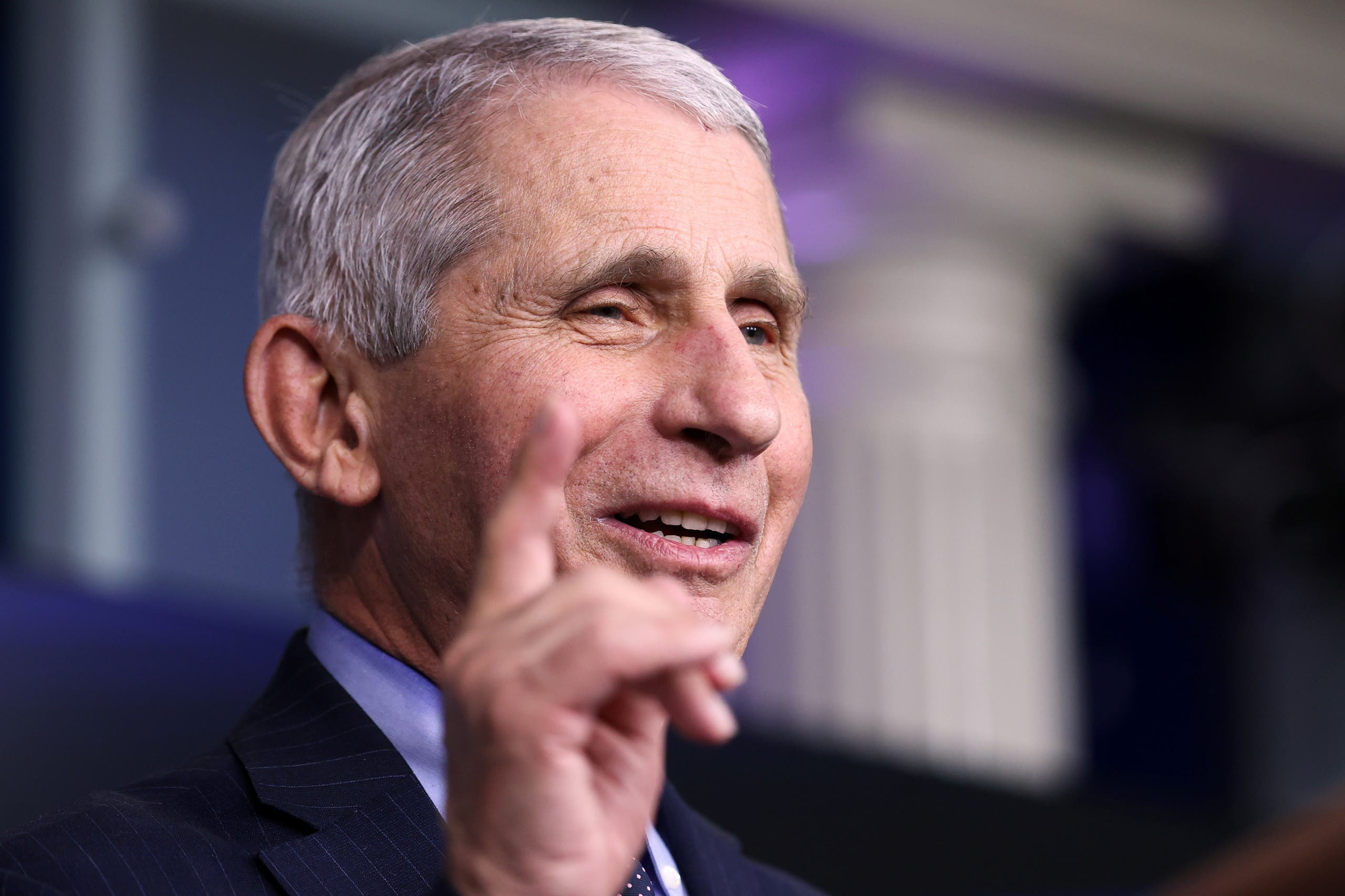 NIH National Institute of Allergy and Infectious Diseases Director Anthony Fauci addresses the daily press briefing at the White House in Washington, U.S. January 21, 2021. (Reuters)