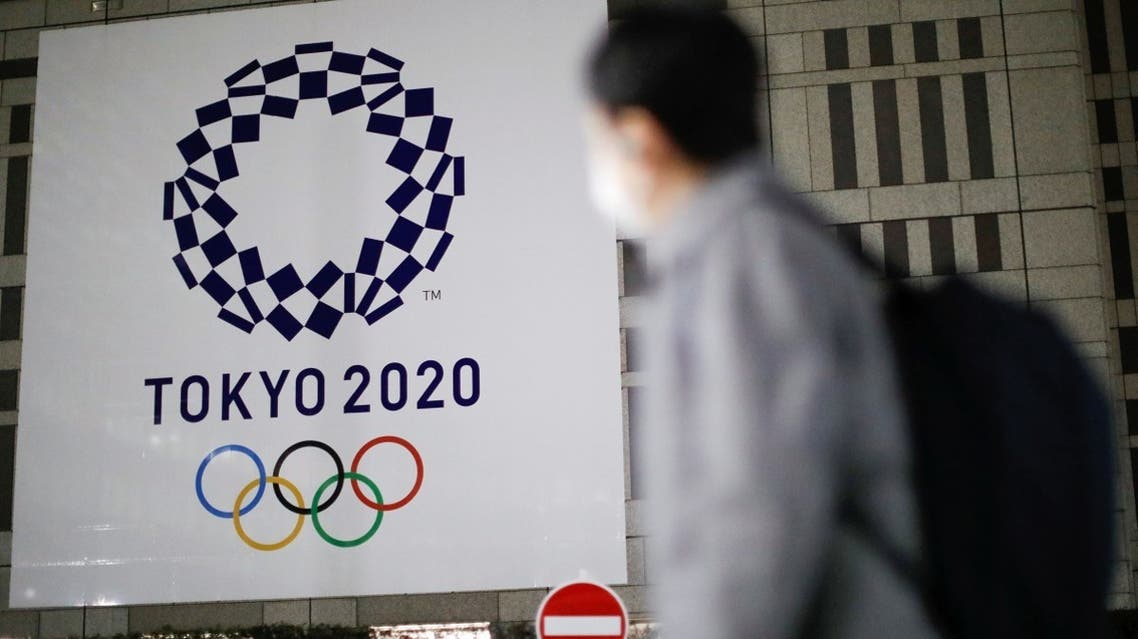 The logo of Tokyo 2020 Olympic Games that have been postponed to 2021 due to the coronavirus disease (COVID-19) outbreak, is displayed at Tokyo Metropolitan Government Office building in Tokyo, Japan, on January 22, 2021. (Reuters)