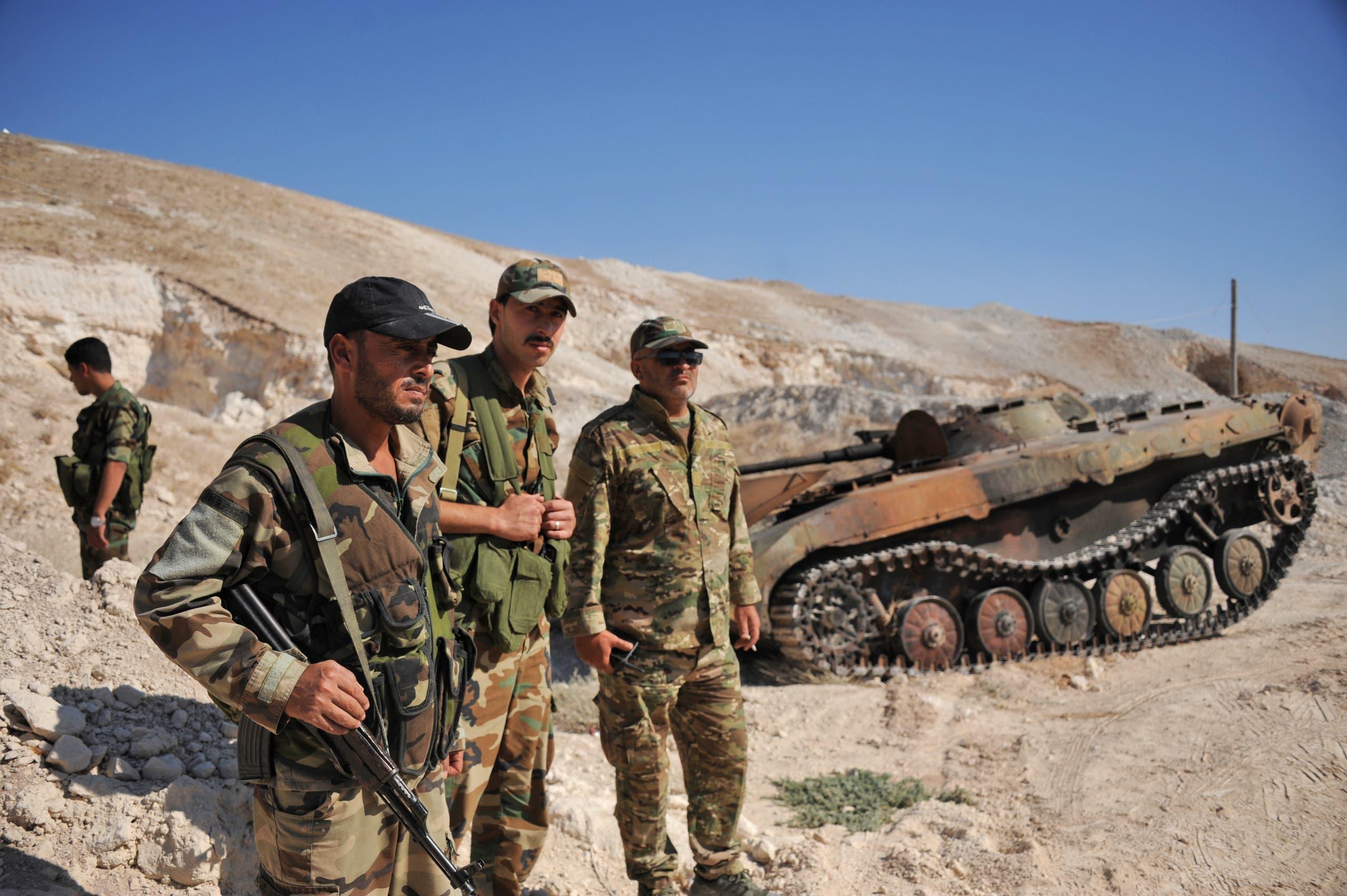 عناصر من جيش النظام السوري (أرشيفية من فرانس برس)