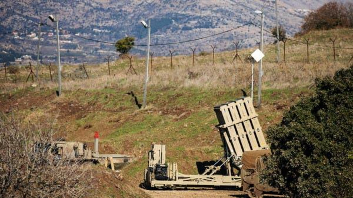 An Iron Dome anti-missile system is seen near the border area between Israel and Syria, in the Israeli-occupied Golan Heights