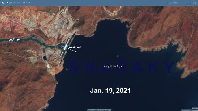 جدیدترین تصاویر ماهواره ای از یک سد