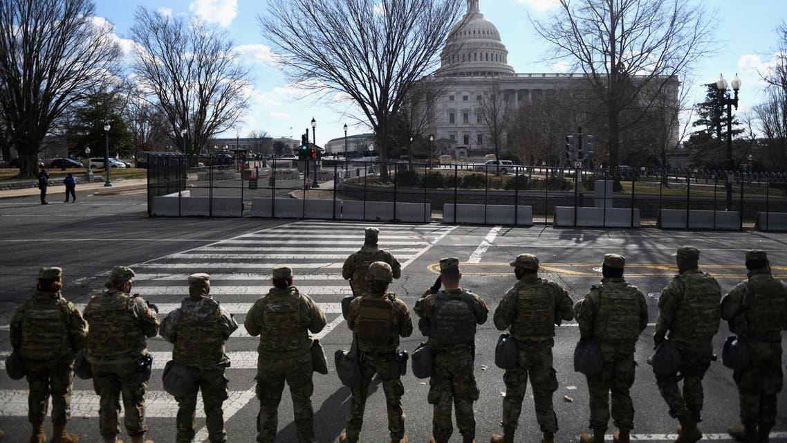 عناصر من الحرس الوطني في محيط الكابيتول بواشنطن (أرشيفية- رويترز)