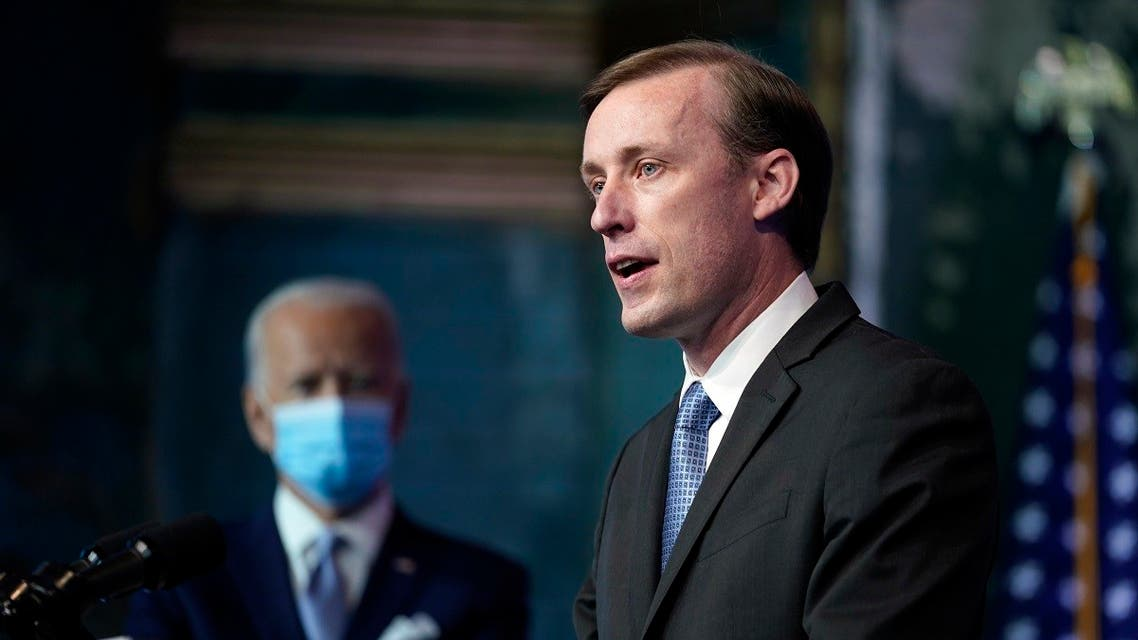 President Biden's national security adviser, Jake Sullivan, speaks, Nov. 24, 2020, in Wilmington, Del. (AP)