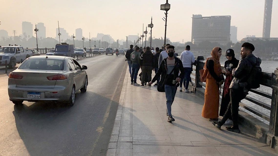 People are seen, amid the coronavirus disease (COVID-19) outbreak, in Cairo, Egypt January 5, 2021. Picture taken January 5, 2021. (Reuters/Ahmed Fahmy)