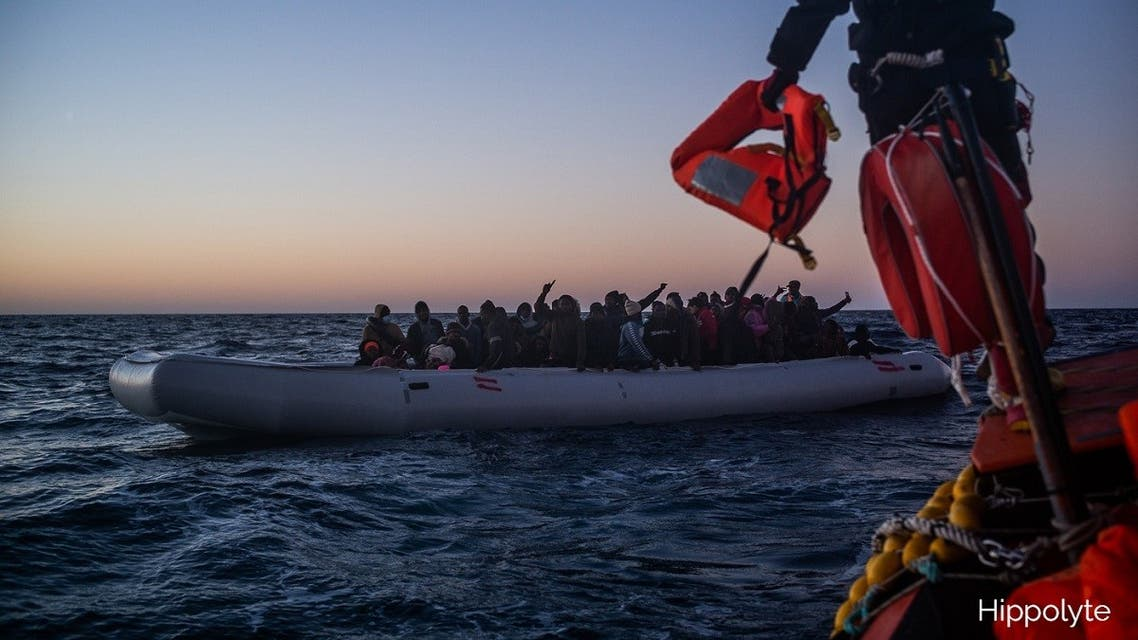 Of the 374 survivors onboard Ocean Viking, there are 21 babies and 35 children, 131 unaccompanied minors and two pregnant women. (Twitter/@SOSMedIntl)