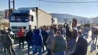ویدئو؛ کامیونهای ایرانی در لبنان و فریاد اعتراض مردم