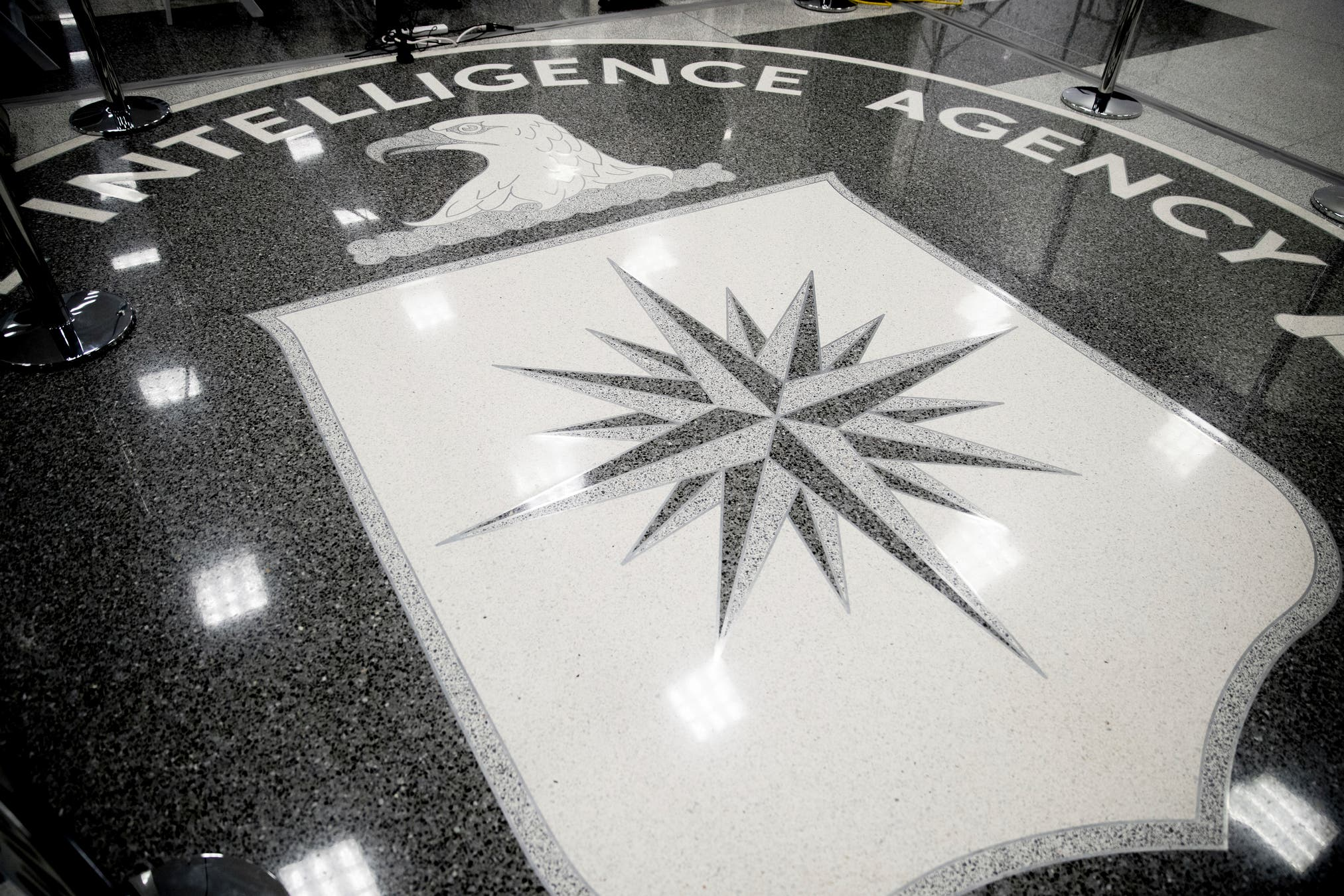 The floor of the main lobby of the Central Intelligence Agency in Langley, Va. (AP)
