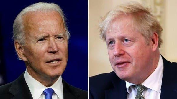 """جونسون وبايدن يبحثان """"ترسيخ التحالف"""" بين بلديهما"""