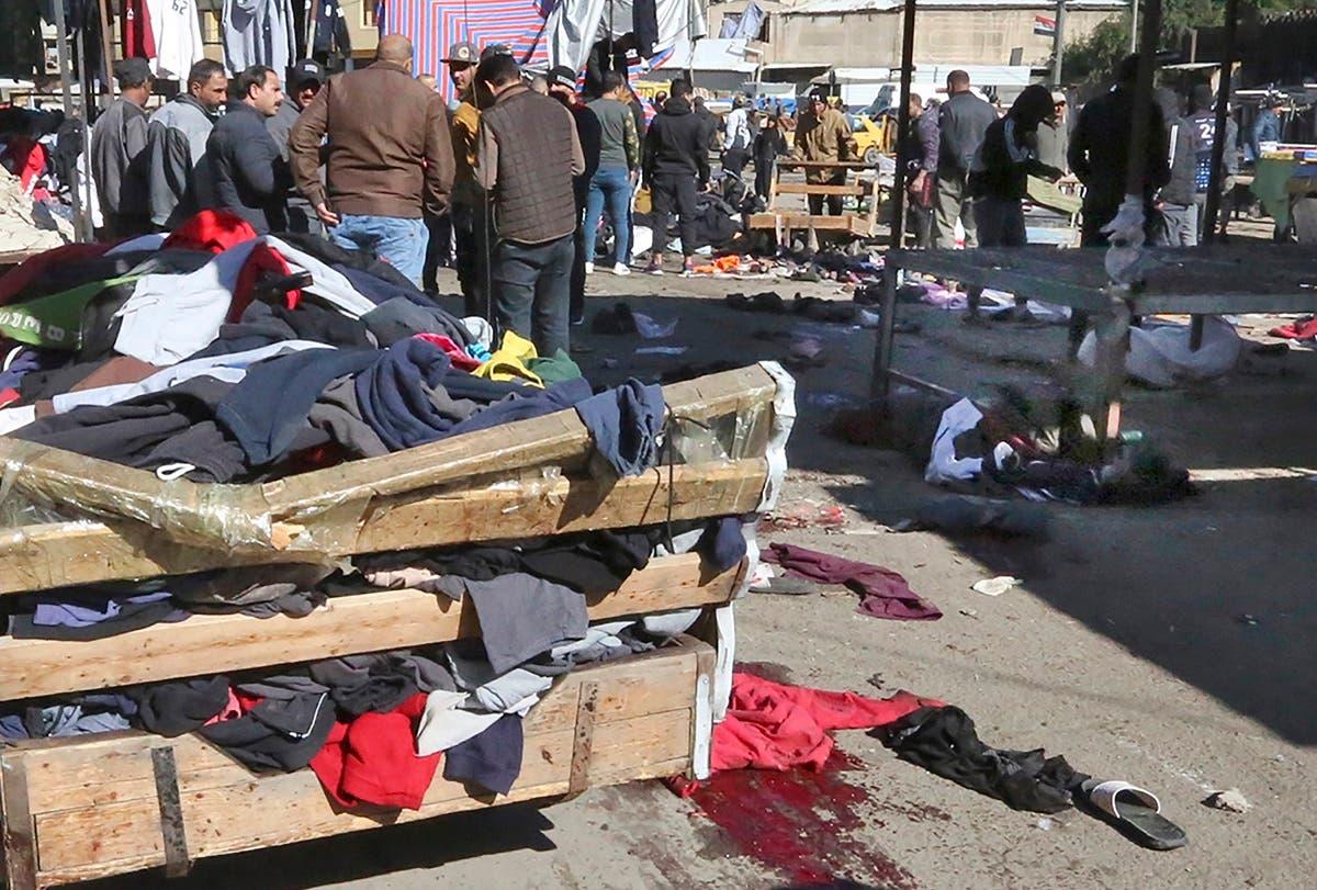 از محل حمله در بغداد