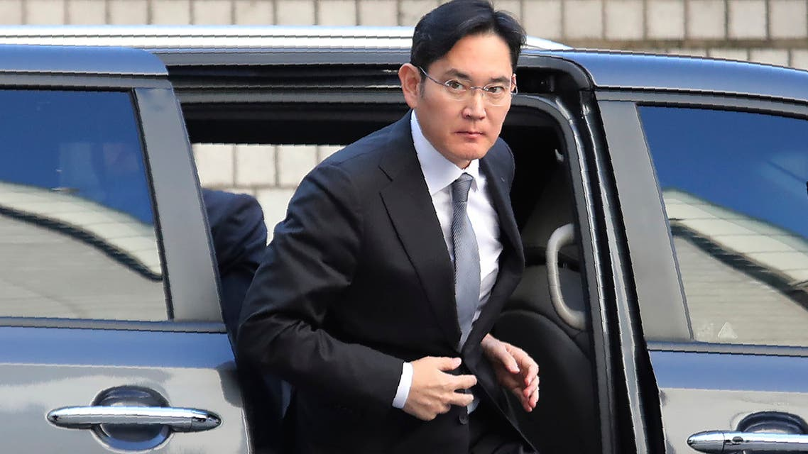 Samsung Electronics Vice Chairman Lee Jae-yong gets out of a car at the Seoul High Court in Seoul, South Korea. (AP)
