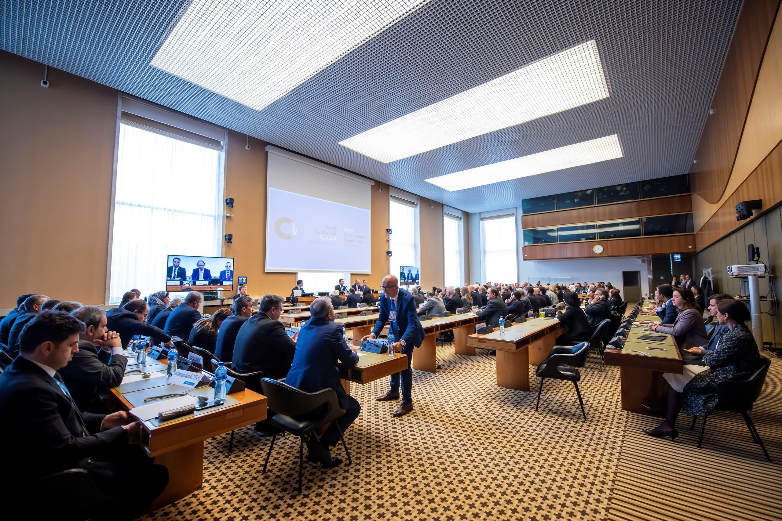من لقاء سابق للجنة الدستورية السورية في جنيف في اكتوبر 2019 (أرشيفية)