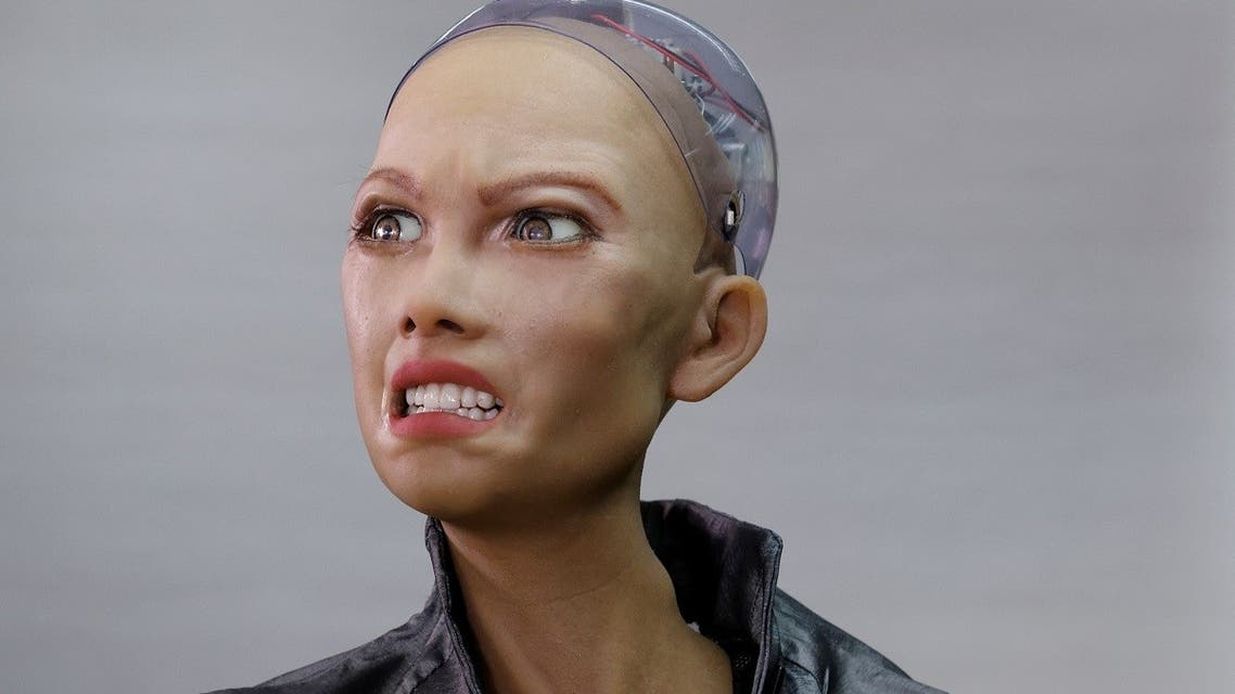 Humanoid robot Sophia developed by Hanson Robotics makes a facial expression at the company's lab in Hong Kong, China. (Reuters)