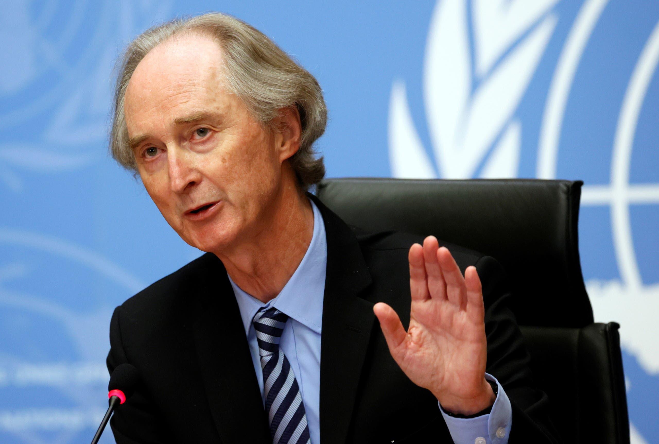 مبعوث الأمم المتحدة الخاص إلى سوريا غير بيدرسون (أرشيفية)