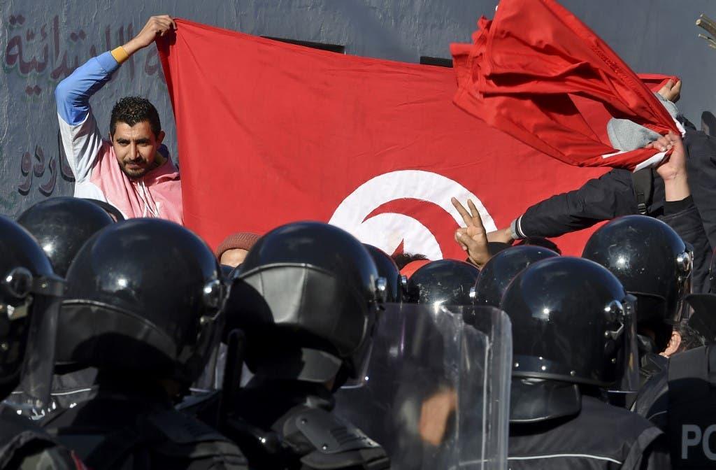 من احتجاجات تونس - فرانس برس