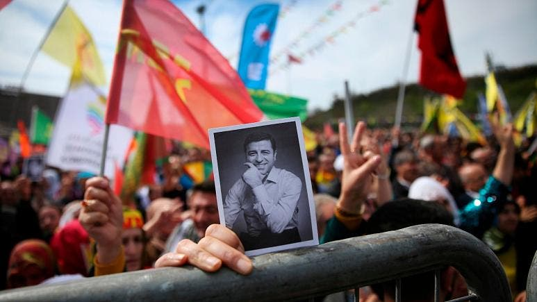 تظاهرات هوادارن صلاح الدين دميرتاش
