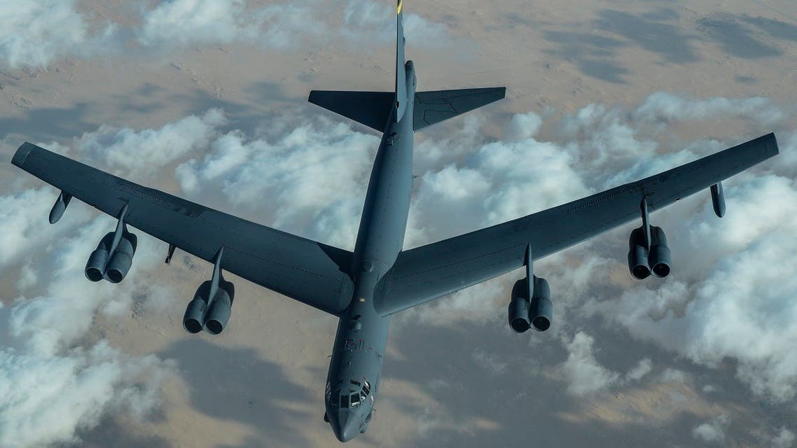 US B-52 bomber flies over the Middle East. (Supplied)