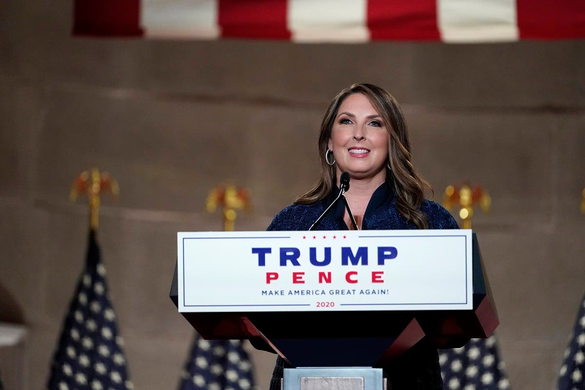 Republican National Committee Chairwoman, Ronna McDaniel, speaks during the Republican National Convention, Aug. 24, 2020. (AP)