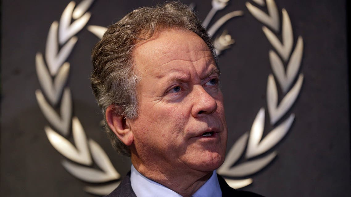 FILE - In this Thursday, Dec. 6, 2018 file photo, David Beasley, the new executive director of the World Food Programme, speaks to The Associated Press during an interview in Rome. The World Food Program has won the 2020 Nobel Peace Prize for its efforts to combat hunger and food insecurity around the globe. The announcement was made Friday Oct. 9, 2020 in Oslo by Berit Reiss-Andersen, the chair of the Nobel Committee. (AP)
