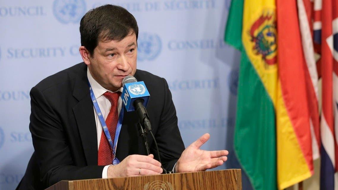 A file photo shows Russian envoy to the United Nations Dmitry Polyanskiy. (AP/Seth Wenig)