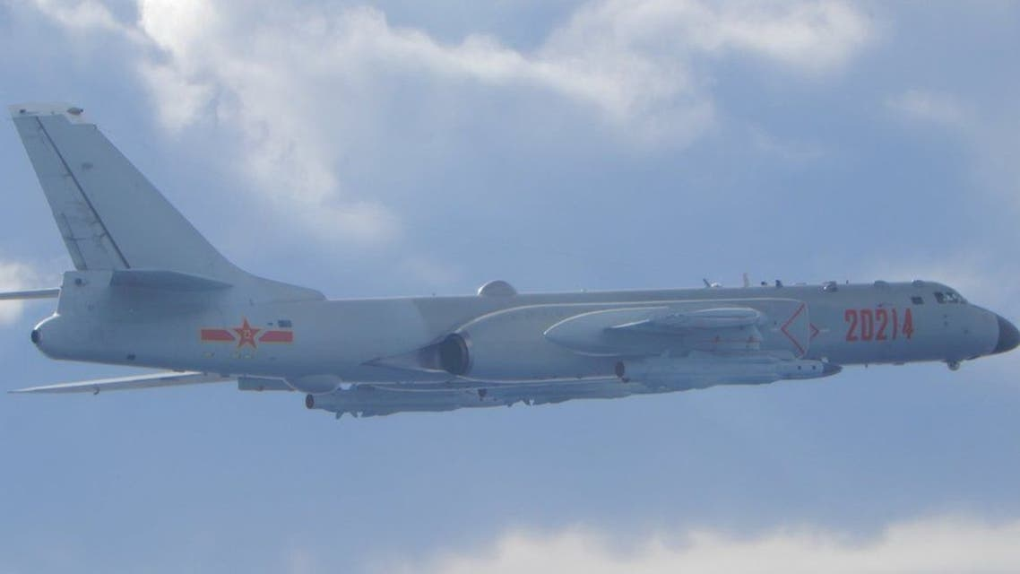 A Chinese anti-submarine military plane flying in the Taiwan Strait last September. (Reuters)