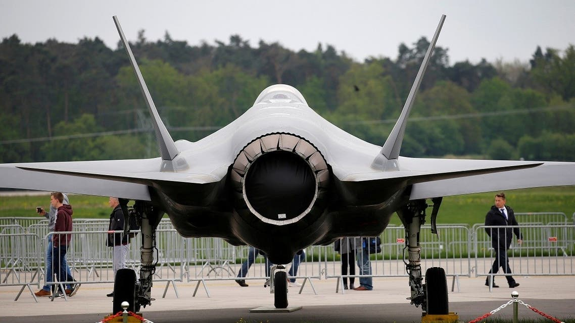 A Lockheed Martin F-35 aircraft is seen at the ILA Air Show in Berlin, Germany, April 25, 2018. (Reuters)