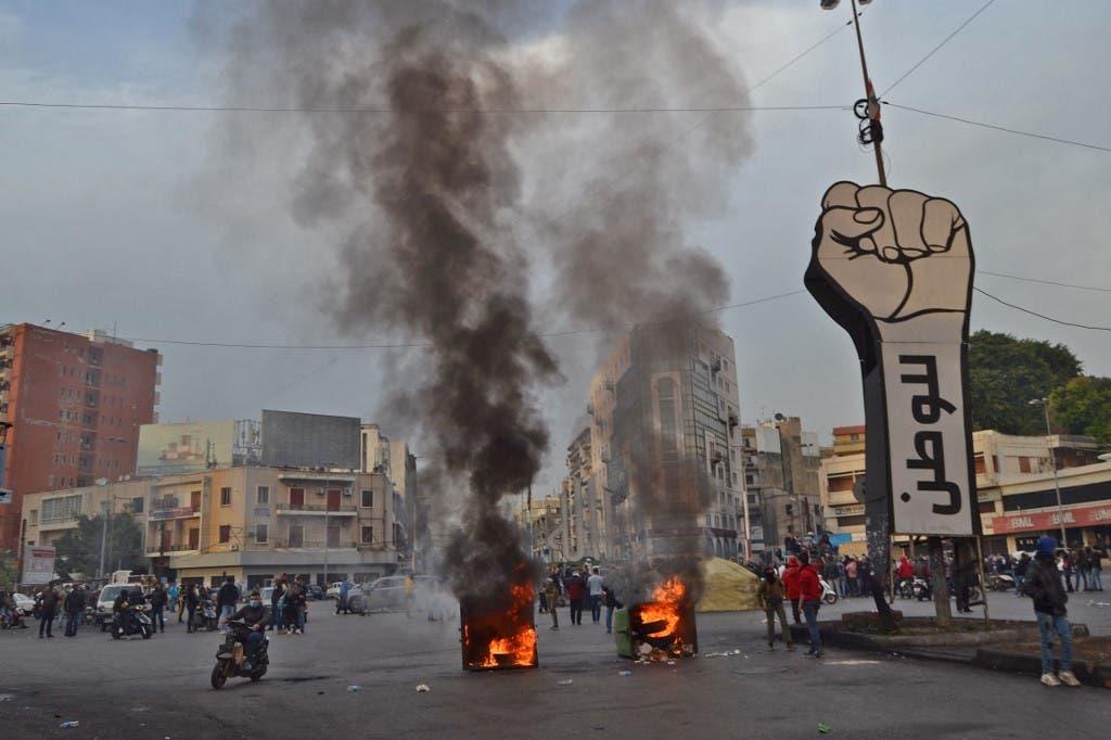 از تظاهرات در طرابلس ، لبنان