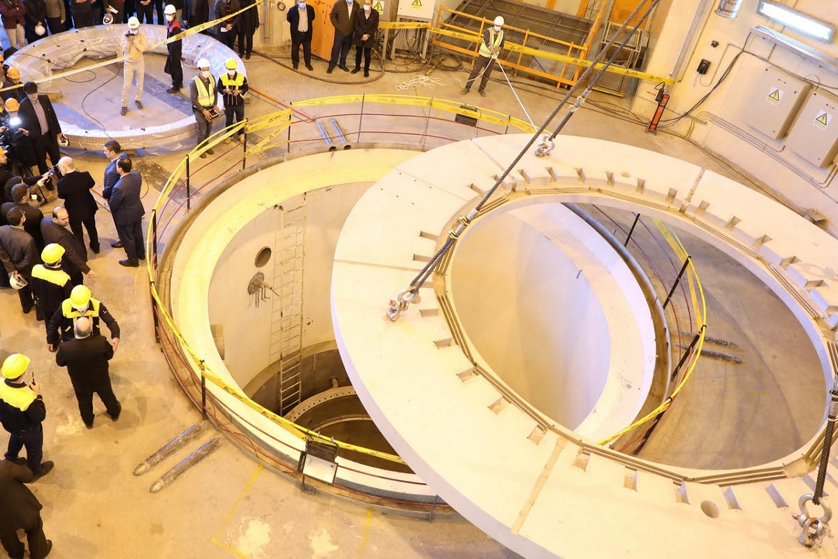 Members of the media and officials tour the water nuclear reactor at Arak, Iran December 23, 2019. (Reuters)