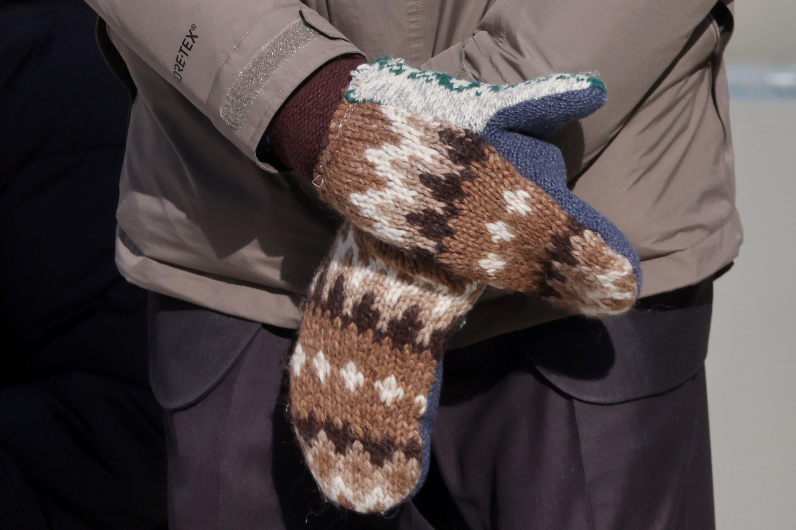 القفازات التي ارتداها ساندرز يوم التنصيب