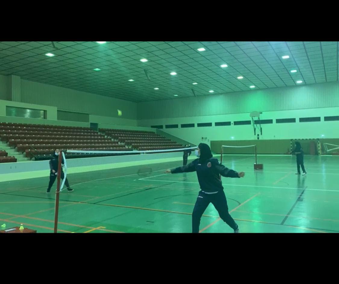 Saudi badminton female star Rahaf almabdal