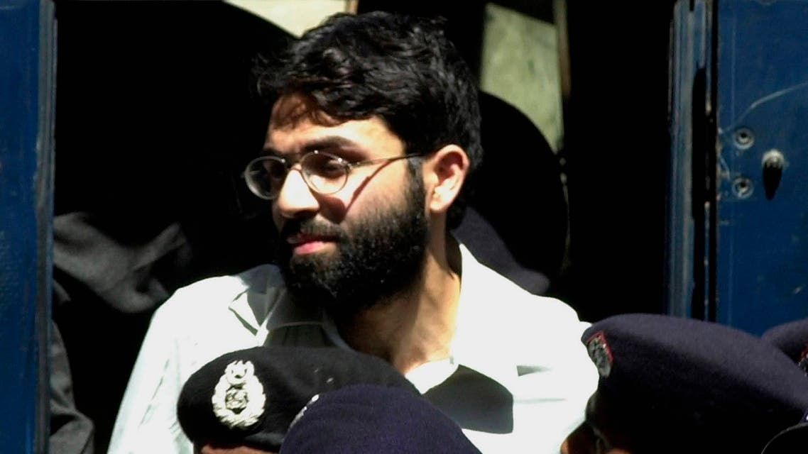 In this March 29, 2002 file photo, Ahmed Omar Saeed Sheikh, the alleged mastermind behind Wall Street Journal reporter Daniel Pearl's kidnap-slaying, appears at the court in Karachi, Pakistan. (AP)
