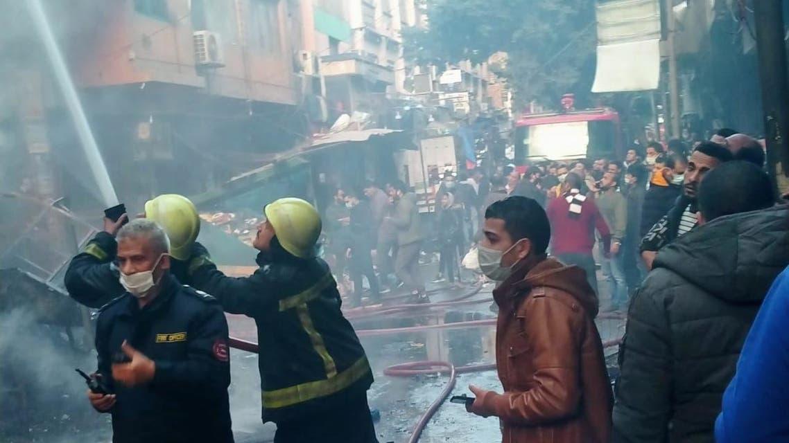 من حريق سوق التوفيقية - رئيسية